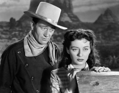 Gail Russell en John Wayne in Angel and the Badman (1947). Credits: Republic Pictures.