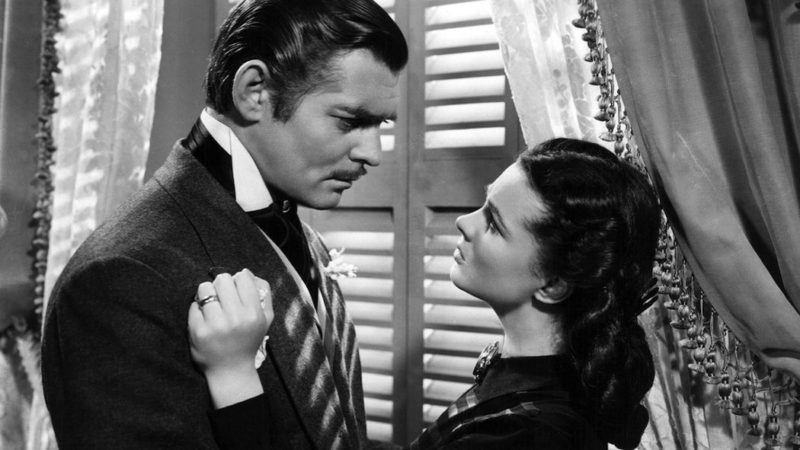 Beroemde scene uit Gone with the wind.