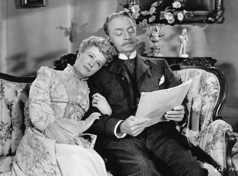 Irene Dunne en William Powell in Life with Father uit 1947.