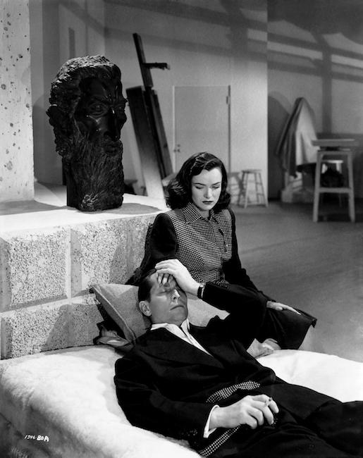 Publiciteitsfoto voor de film Phantom Lady (1944), hier met Ella Raines en Franchot Tone.